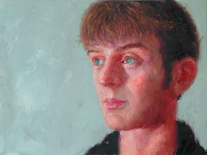"John Parks. Portrait of Alex. 2006. Oil on Canvas. 12"" x 16"""